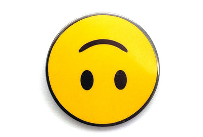Upside Down Smiling Face Pin
