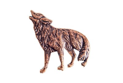 Vintage Wolf Howling Pin
