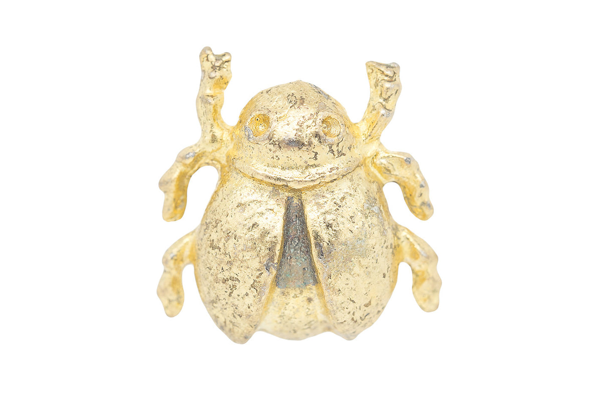 Vintage Gold Beetle Pin