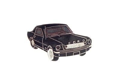 Vintage Black Ford Mustang Pin