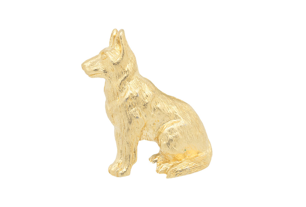 Vintage Gold German Shepherd Pin