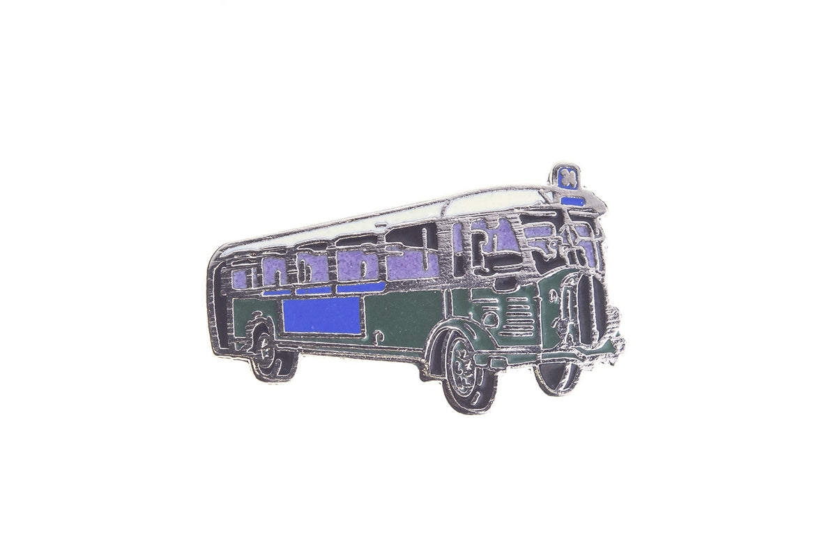 Vintage Green Bus Pin