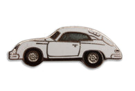 Vintage White Car Pin 3