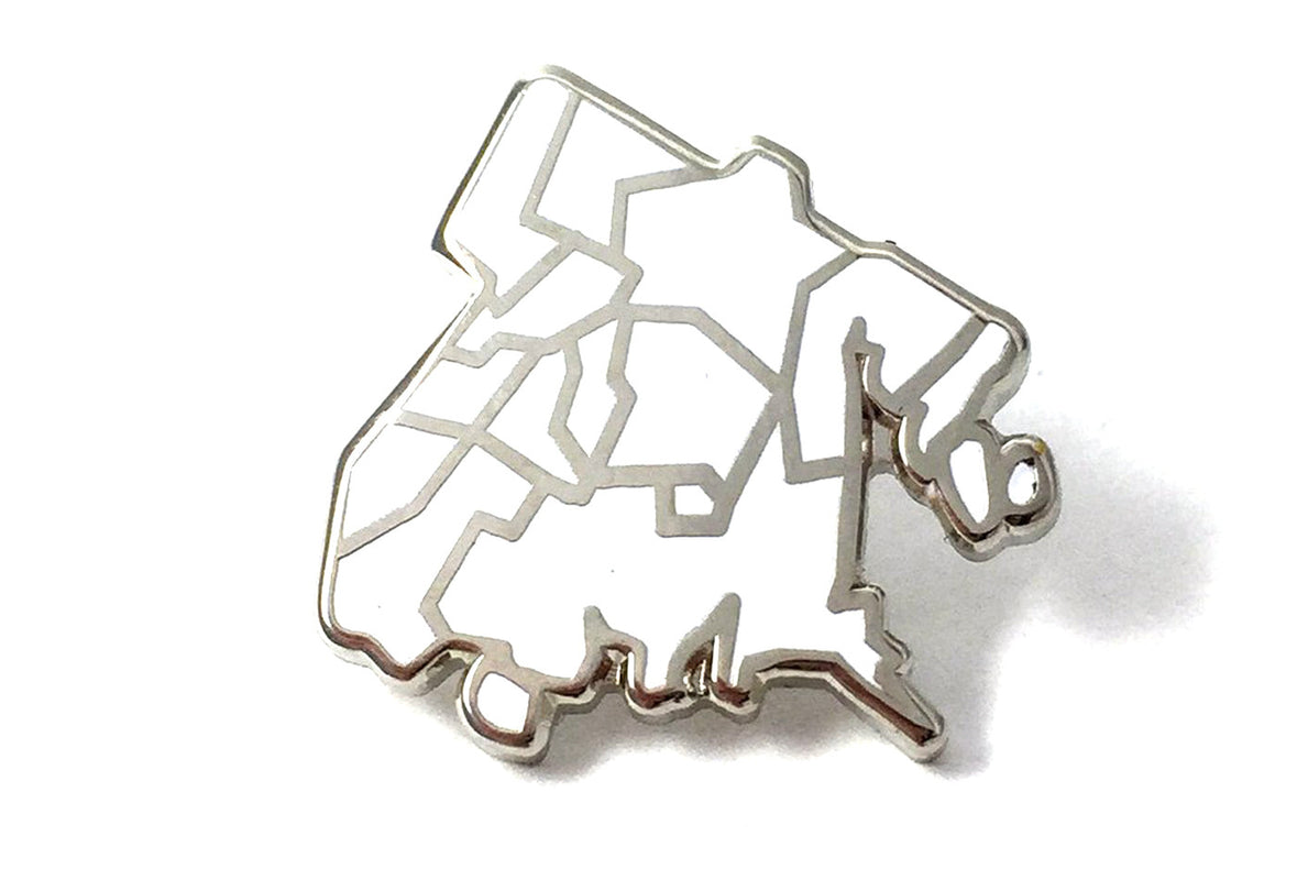 J Frost Bronx Borough Pin - White and Silver