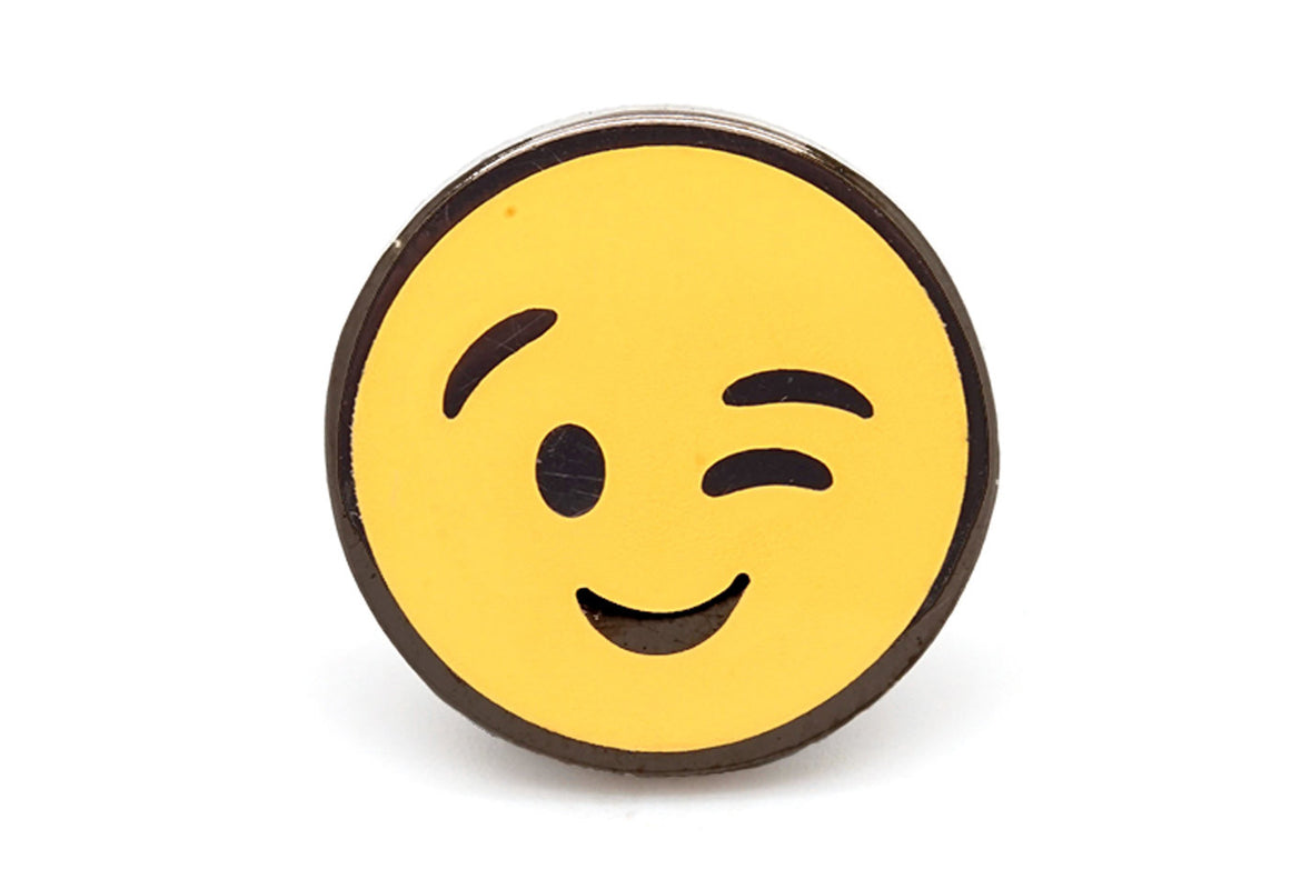 Winking Face Pin
