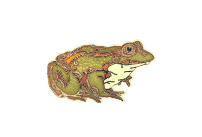 Vintage Toad with Orange Stripe Pin
