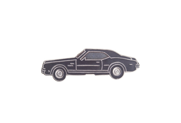 Vintage Black Car 2 Pin