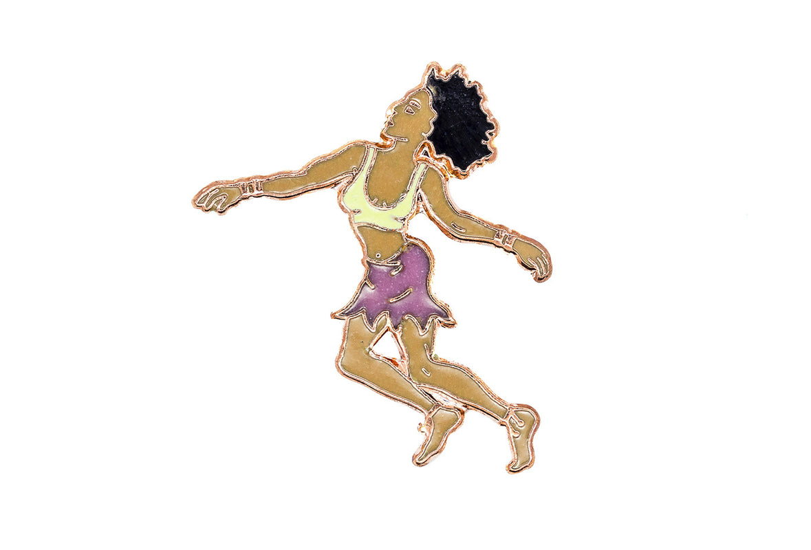 Vintage Dancing Girl Pin