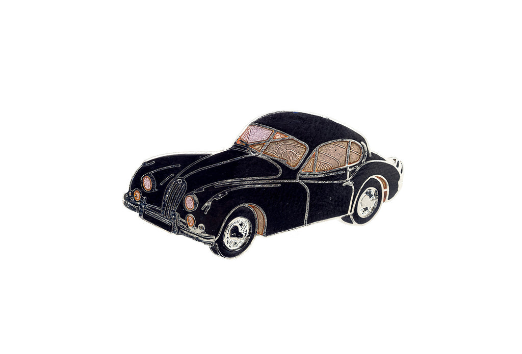 Vintage Black Car 1 Pin