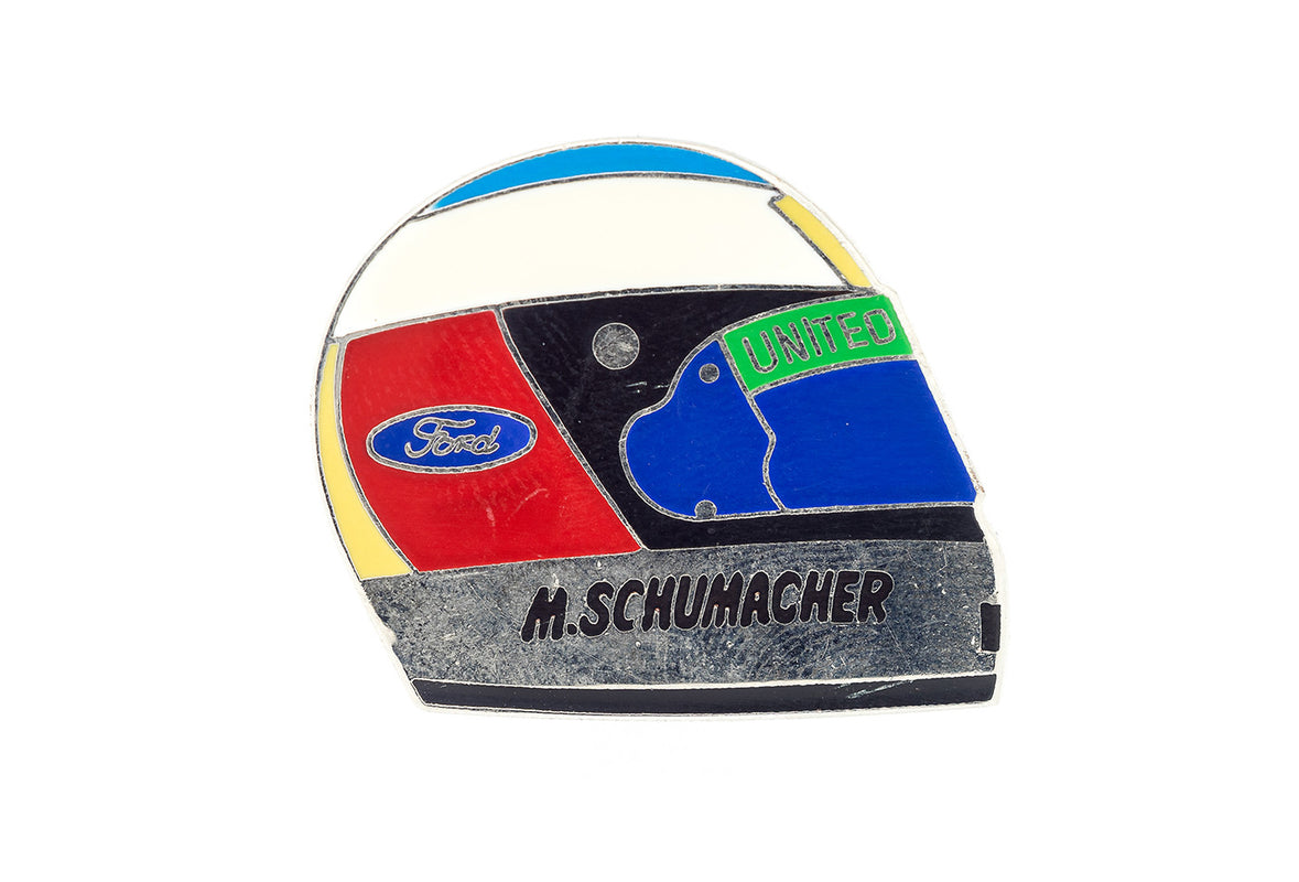 Vintage Schumacher Racing Helmet Pin