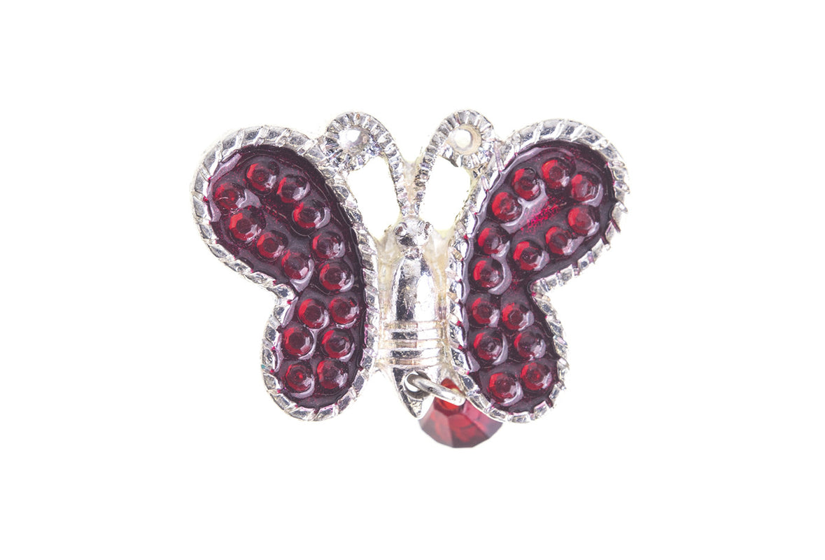 Vintage Red Butterfly Pin