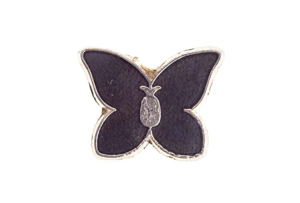 Vintage Black Butterfly Pin