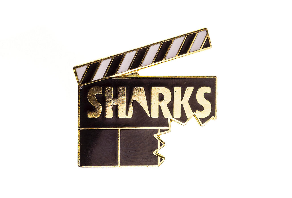 Vintage Sharks Film Pin