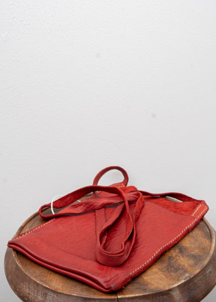 "GUIDI / ""PKT1"" PASSPORT BAG / SOFT HORSE FULL GRAIN / 1006T / RED"