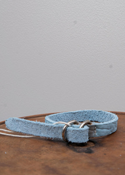 BLT00B / LEATHER BRACELET / BISON FULL GRAIN/ CO77T / ICE BLUE