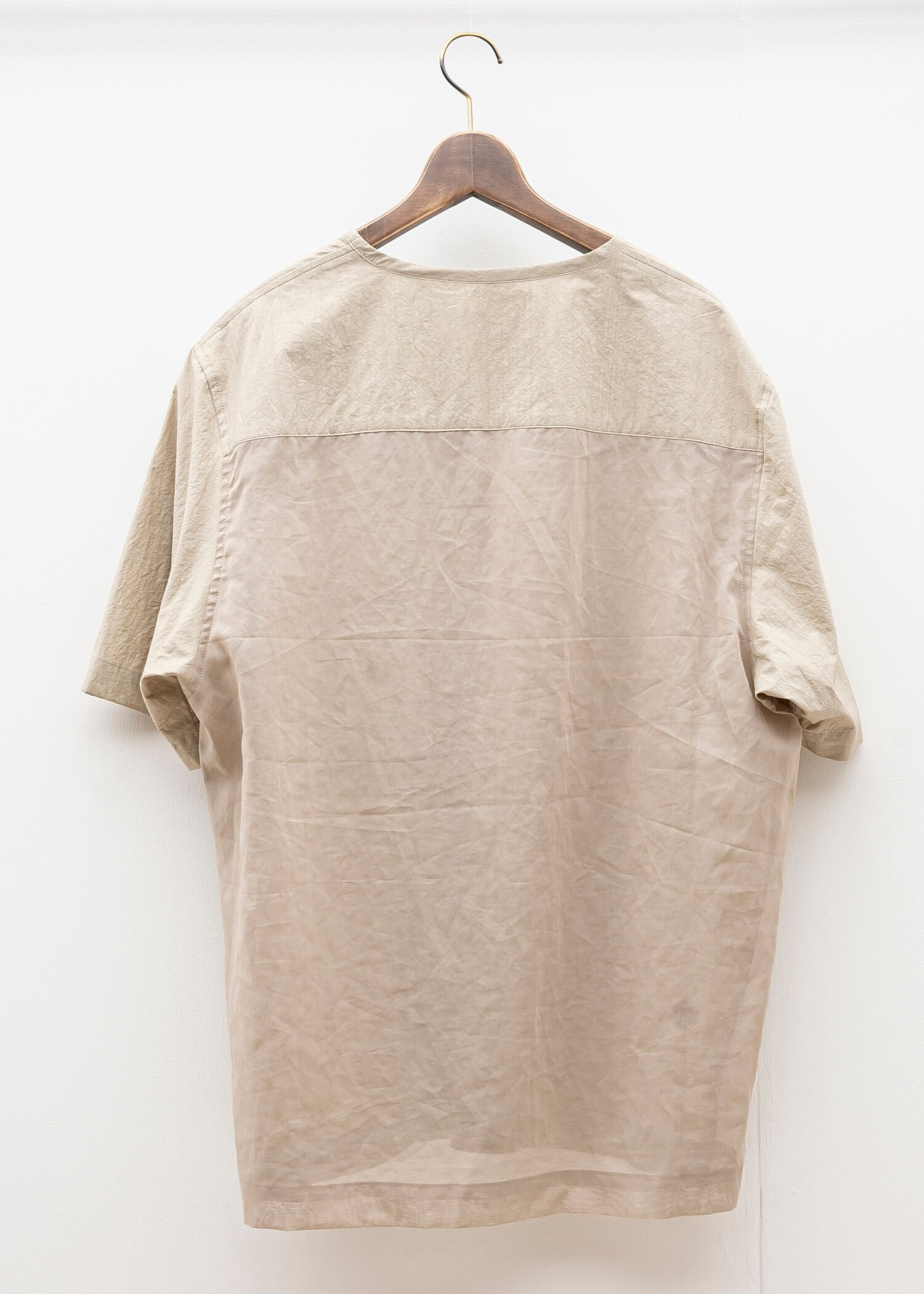 "ZIIIN / ""UKA"" See Through One Pocket Loose Tunic / BEIGE"