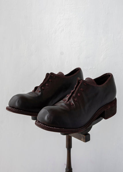 "GUIDI / ""PL10"" Derby Shoes / Horse"