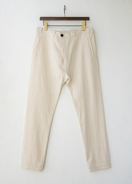 "JAN-JAN VAN ESSCHE / ""TROUSERS#49"" REGULAR FIT TROUSERS / KINARI / HEMP CLOTH"