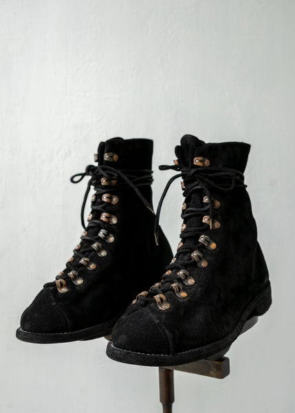 "GUIDI / ""205"" CARF REVERS NEW HIKING / SOLE LEATHER / CARF FULL GRAIN / BLKT"