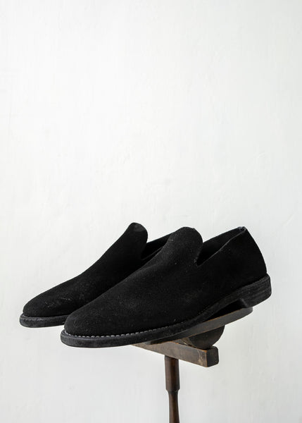 "GUIDI / ""100"" SLIP ON / CALF BACK SIDE REVERSE / SOLE LEATHER / BLKT"