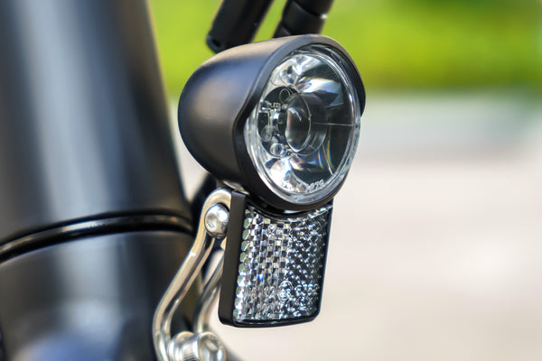 opening the front light can help you more visible