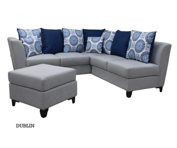 DUBLIN SOFA SET- SECTIONAL WITH OTTOMAN