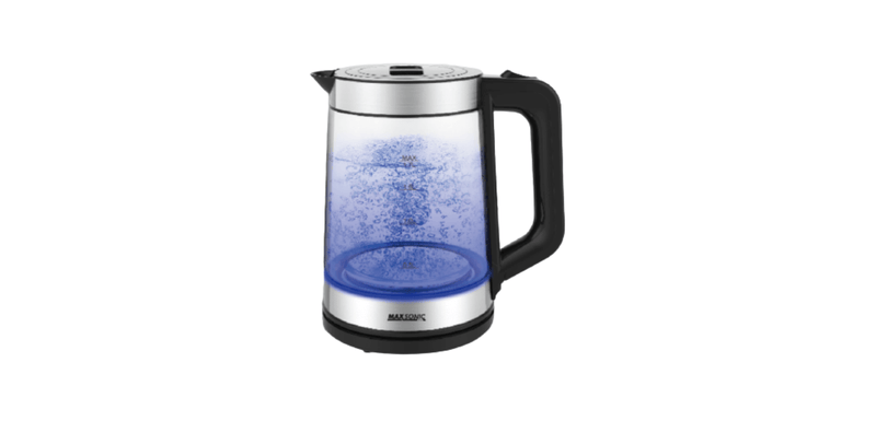 1.7L Glass Kettle with Blue LED Lights