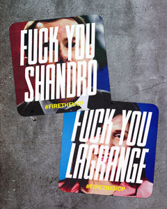 """Fuck You Minister"" Sticker 4-pack"