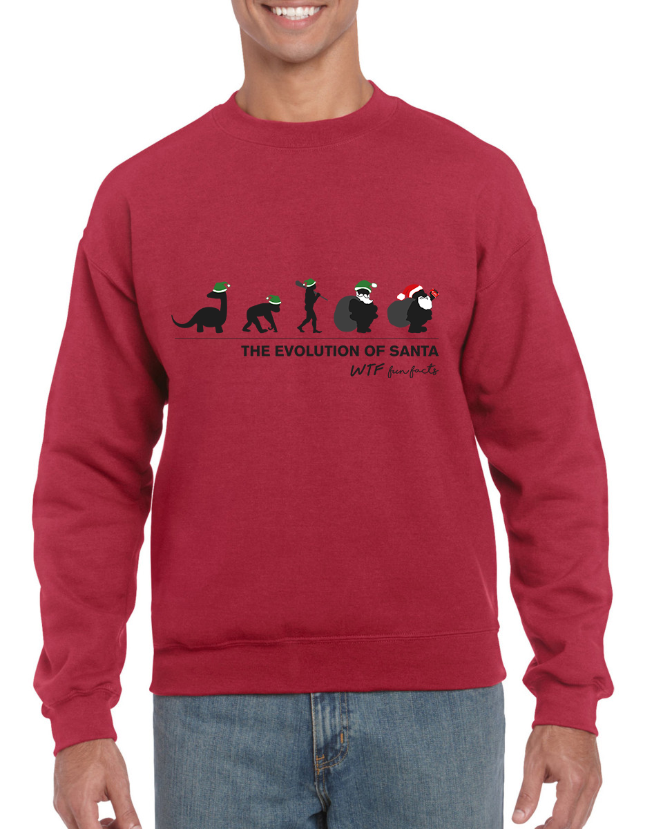 The Evolution Of Santa | Sweatshirt | Unisex