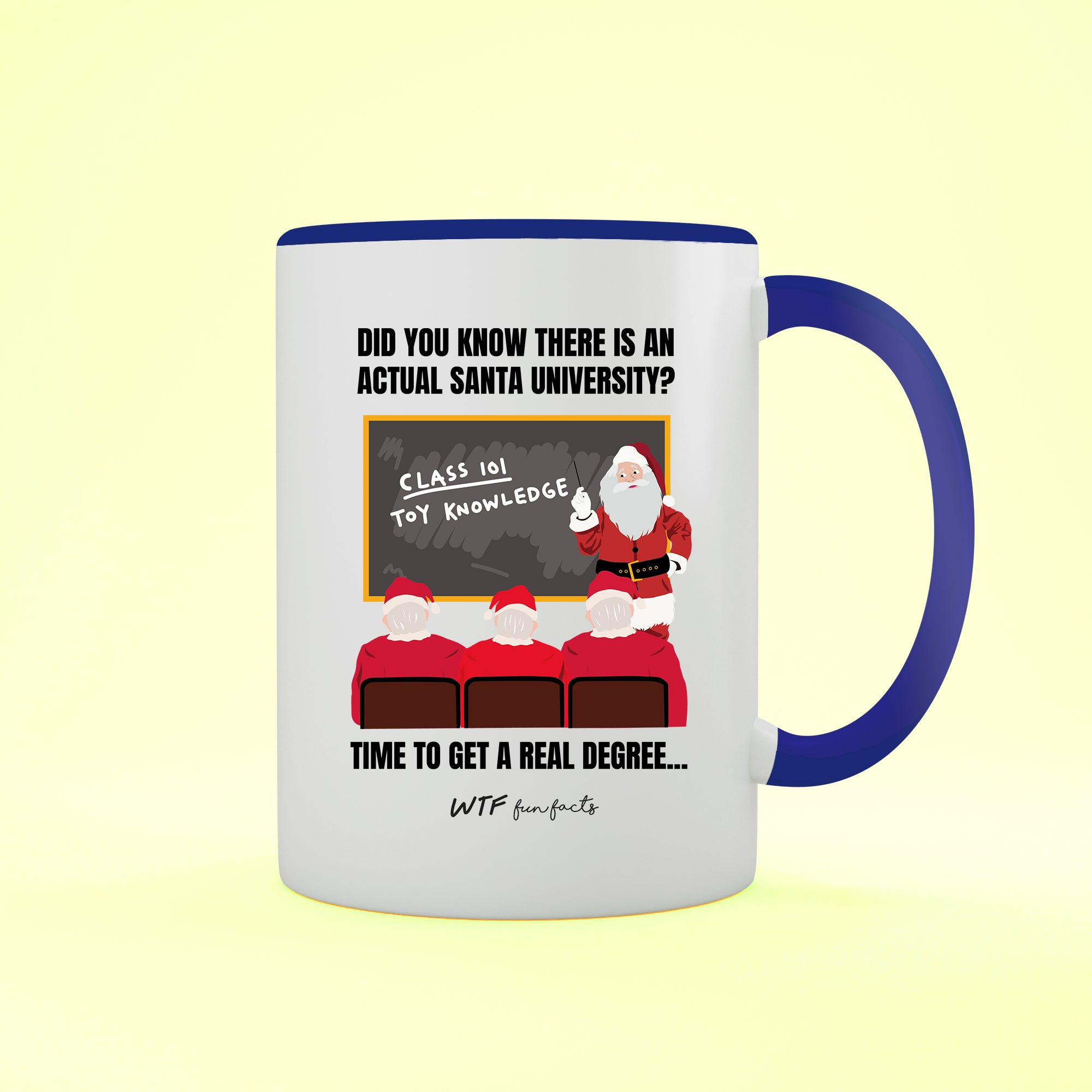 Funny | Santa University | Two Tone - Mug