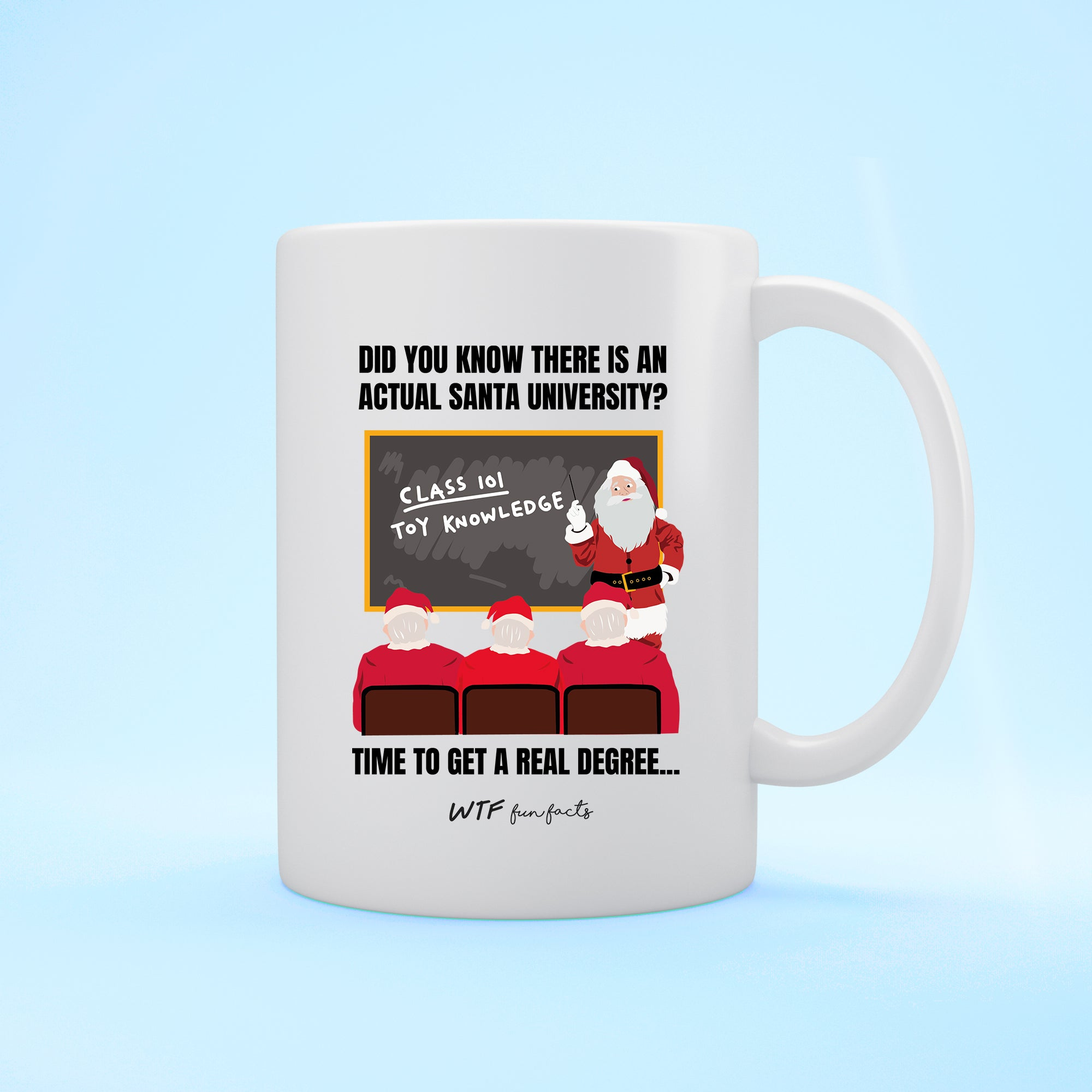 Funny | Santa University | White - Mug