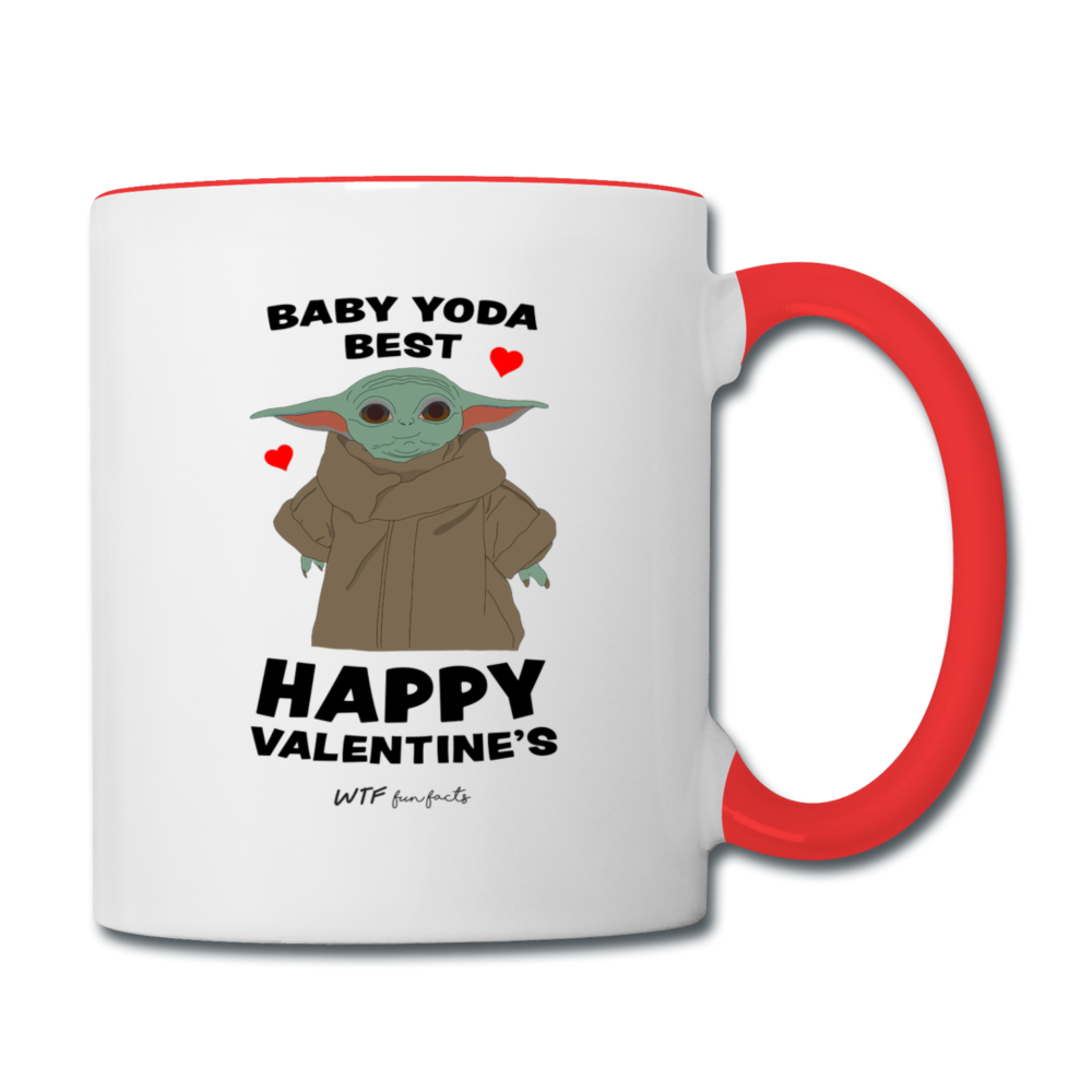 Baby Yoda Best - Red Mug - white/red