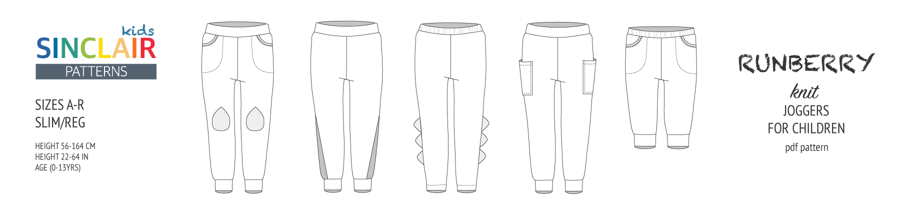 Pdf sewing pattern Runberry joggers