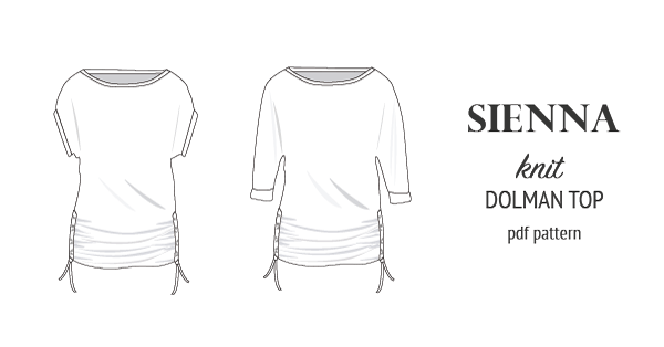 PDF Sewing pattern Sinclair Patterns S1043 Sienna drawstring dolman top