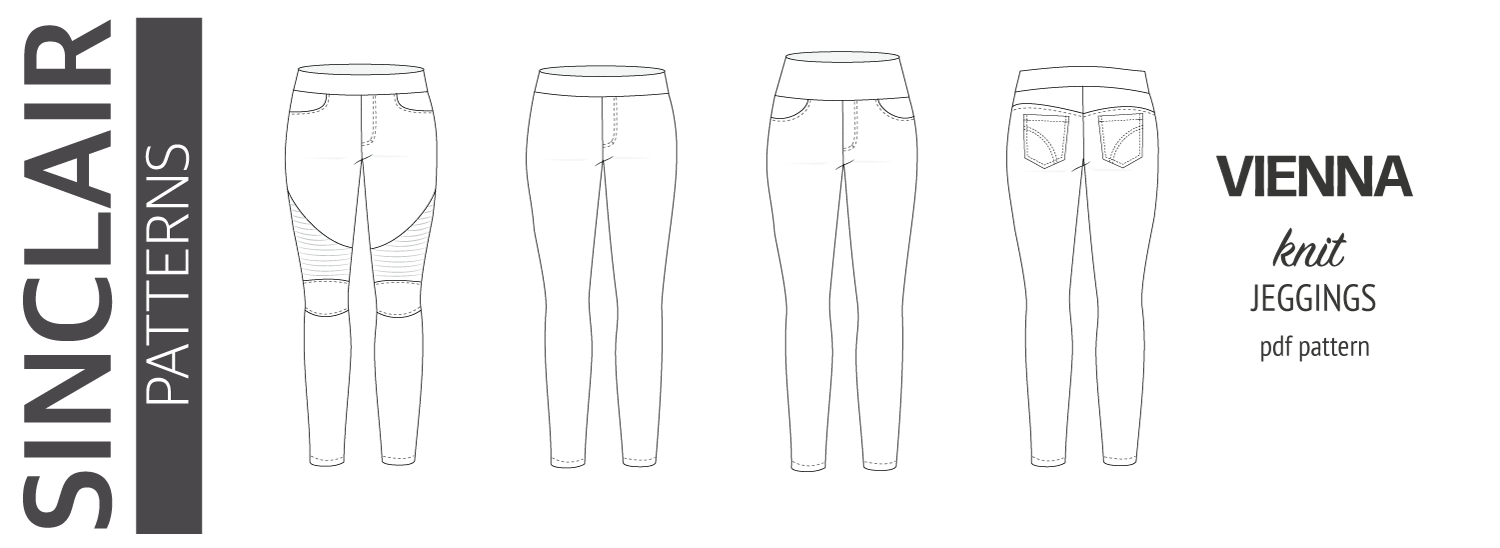 Vienna jeggings with moto patch pdf sewing pattern