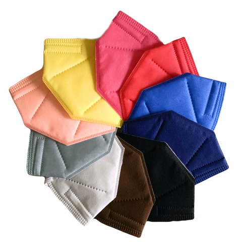 N95 Assorted Coloured Masks (Box of 10)