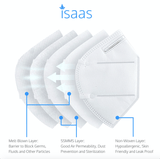 Single Classic N95 White Mask - Isaas