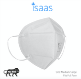 N95 Mask Classic White (Box of 10) - Isaas