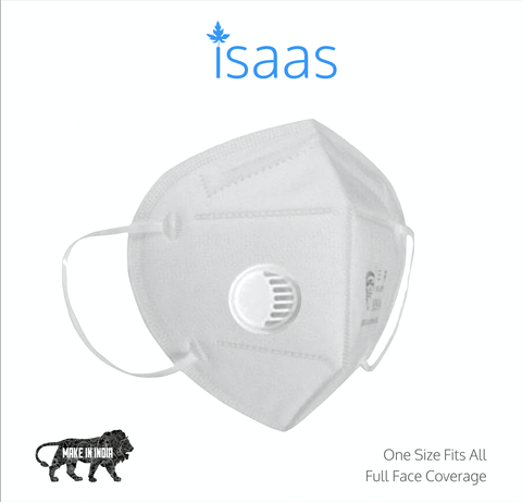 N95 Mask Classic White With Respirator (Box of 10) - Isaas