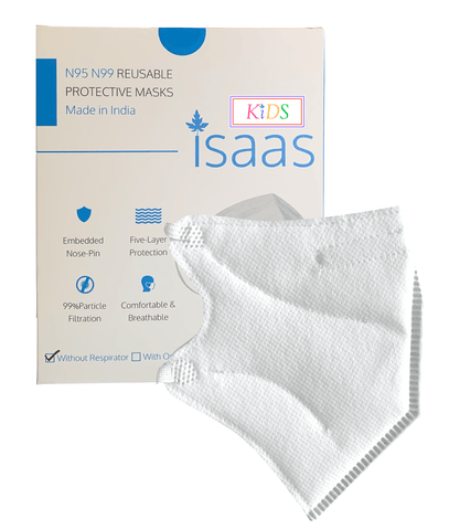 KIDS N95 Mask Classic White (Box of 10) - Isaas