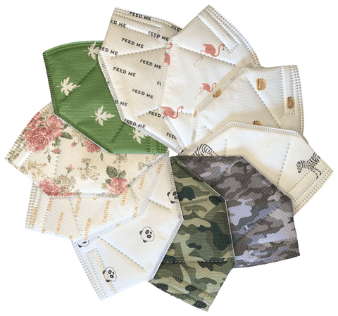 N95 Assorted Printed Masks (Box of 10) - Isaas