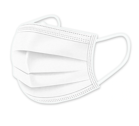 White 3-Ply Disposable Protective Masks (Box of 50) - Isaas
