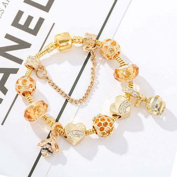 Alloy Gold-Plated  Bee Bracelet