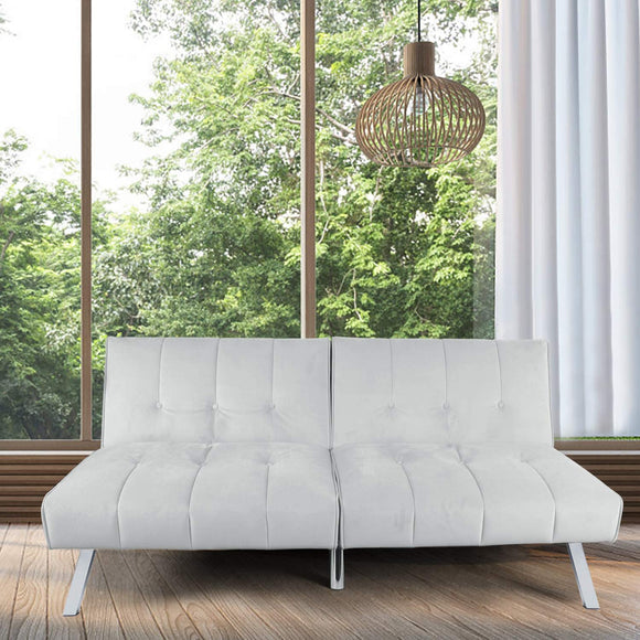 Modern Fabric Futon Sofa