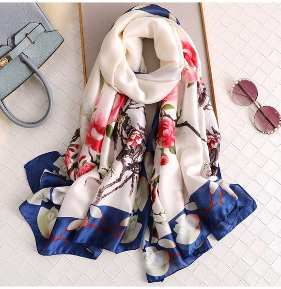 Luxury Printed Silk Scarf