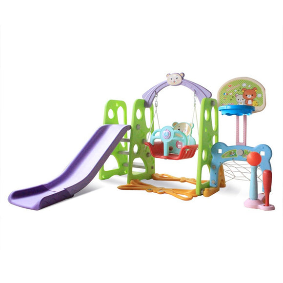 6 In 1 Slide Swing And Basketball Football Baseball Set