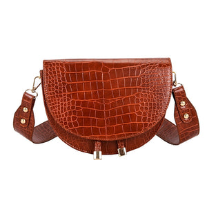 Luxury Crocodile Pattern Cross body Bags