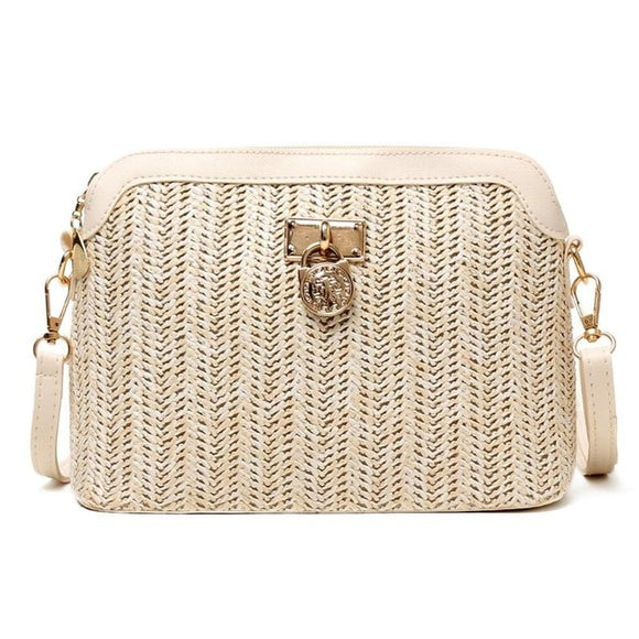 Fashion Straw Crossbody Bag