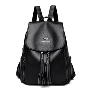 Fashion Double Tassel Backpack