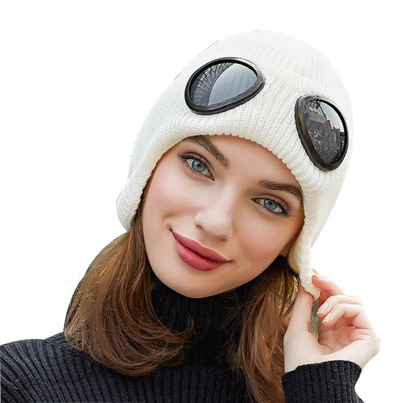 Balaclava Ear-flap Wool Beanie Hat
